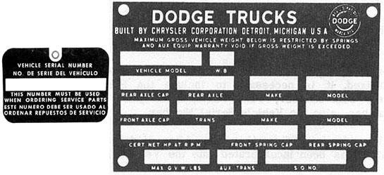 1972 Dodge Truck Vin Decoder