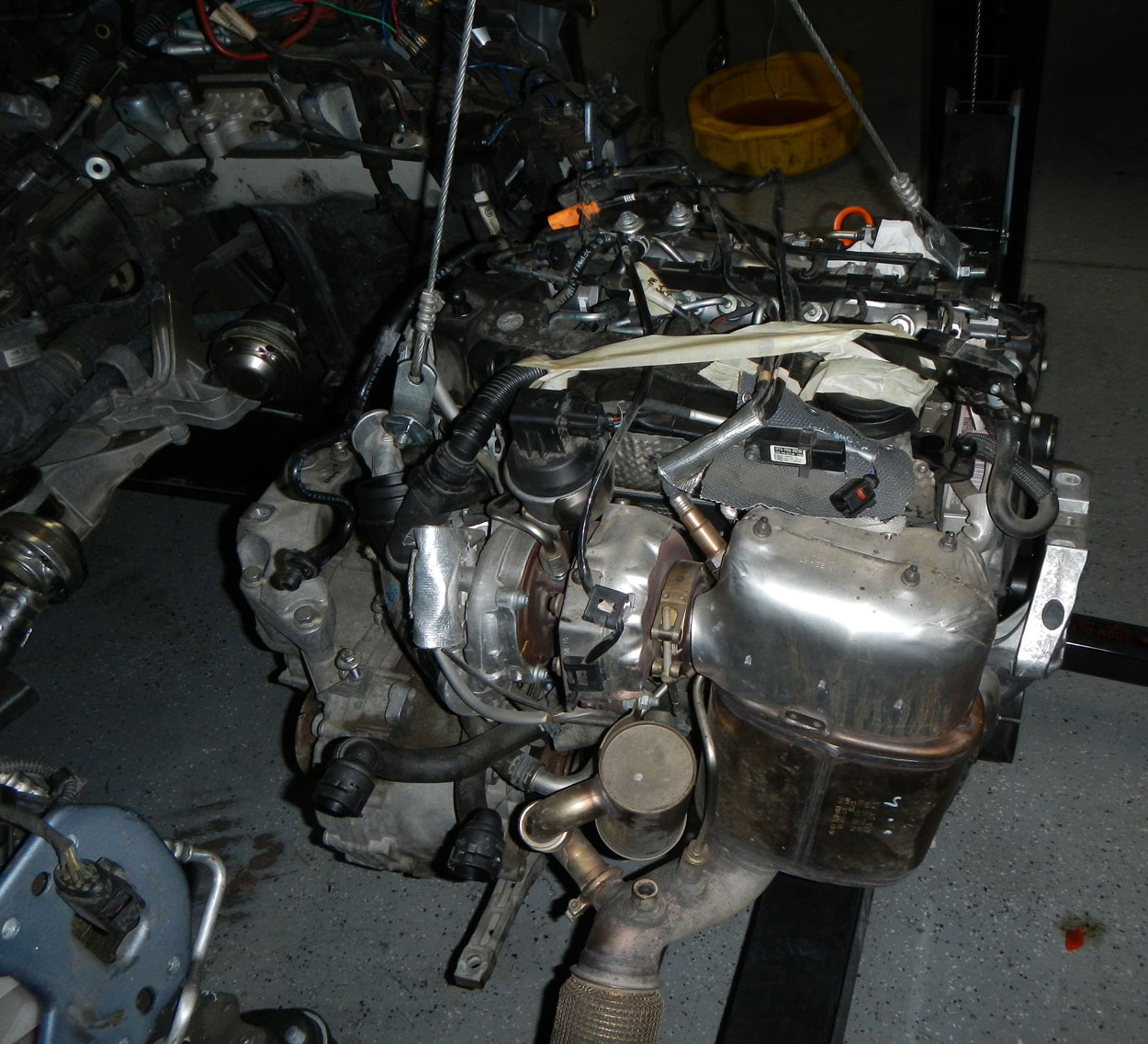 I didn t see any way to get the turbo out the top or out the bottom of the car without removing the cradle