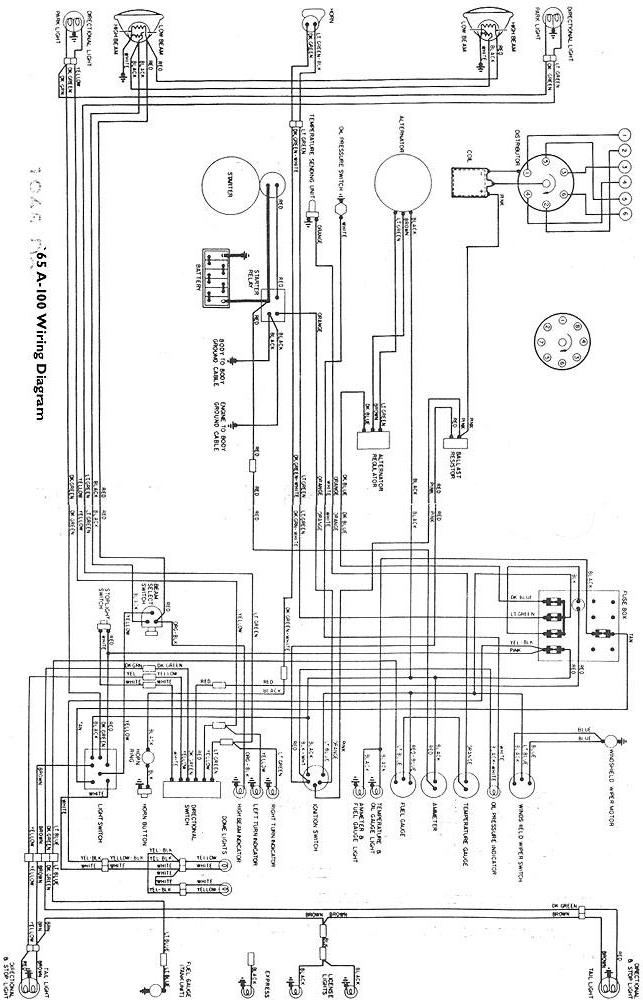65_awire jpg · wiring diagram for 1965 a-100 vans and pickups