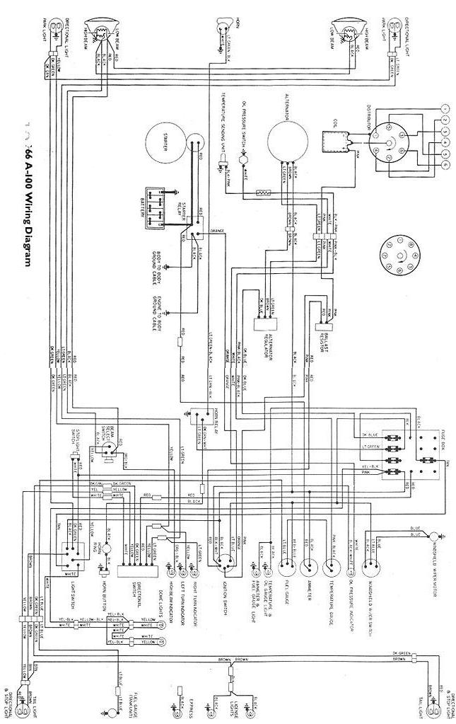 1966 dodge d100 wiring diagram wiring diagram