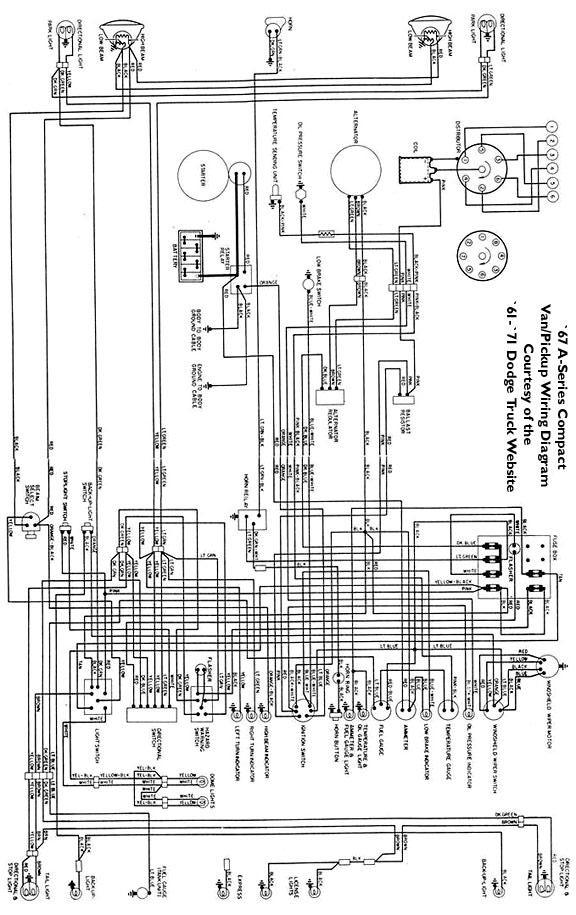wiring diagram d100 dodge 1965 - Wiring Diagram
