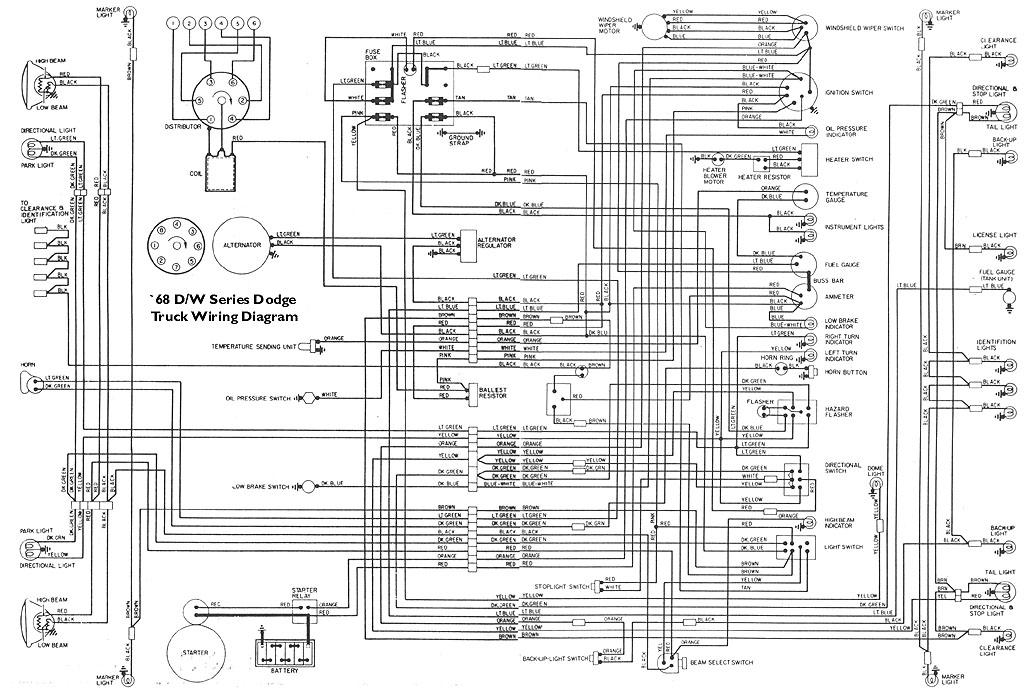 electricals 61 71 dodge truck website 68wire jpg · wiring diagram for 1968 dodge light duty pickups