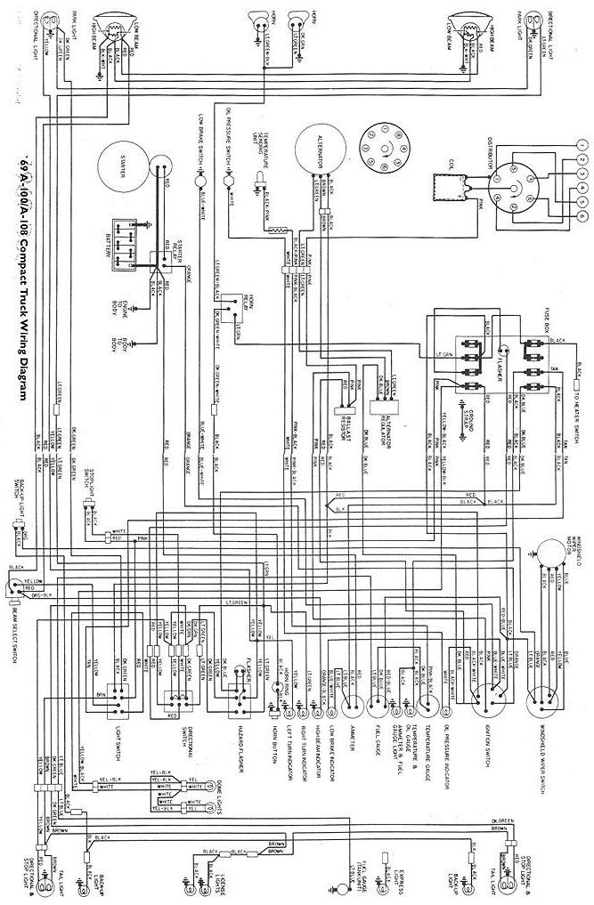 69awire · Wiring Diagram For 1969 A100a108 Vans And A100 Pickups: Wire Diagrams Website At Outingpk.com