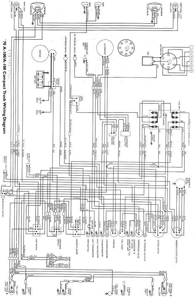 electricals '61 '71 dodge truck website electrical power diagrams 70_awire jpg · wiring diagram for 1970 a 100 a 108 vans and a 100 pickups